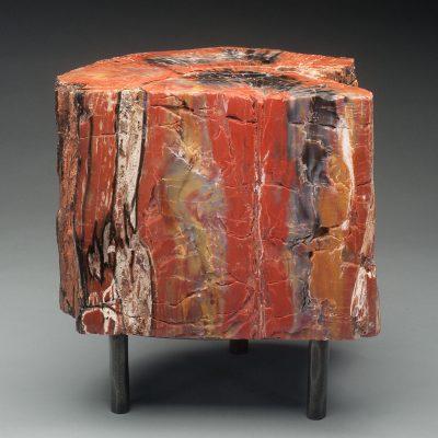 Arizona Petrified Wood on a custom fabricated stand